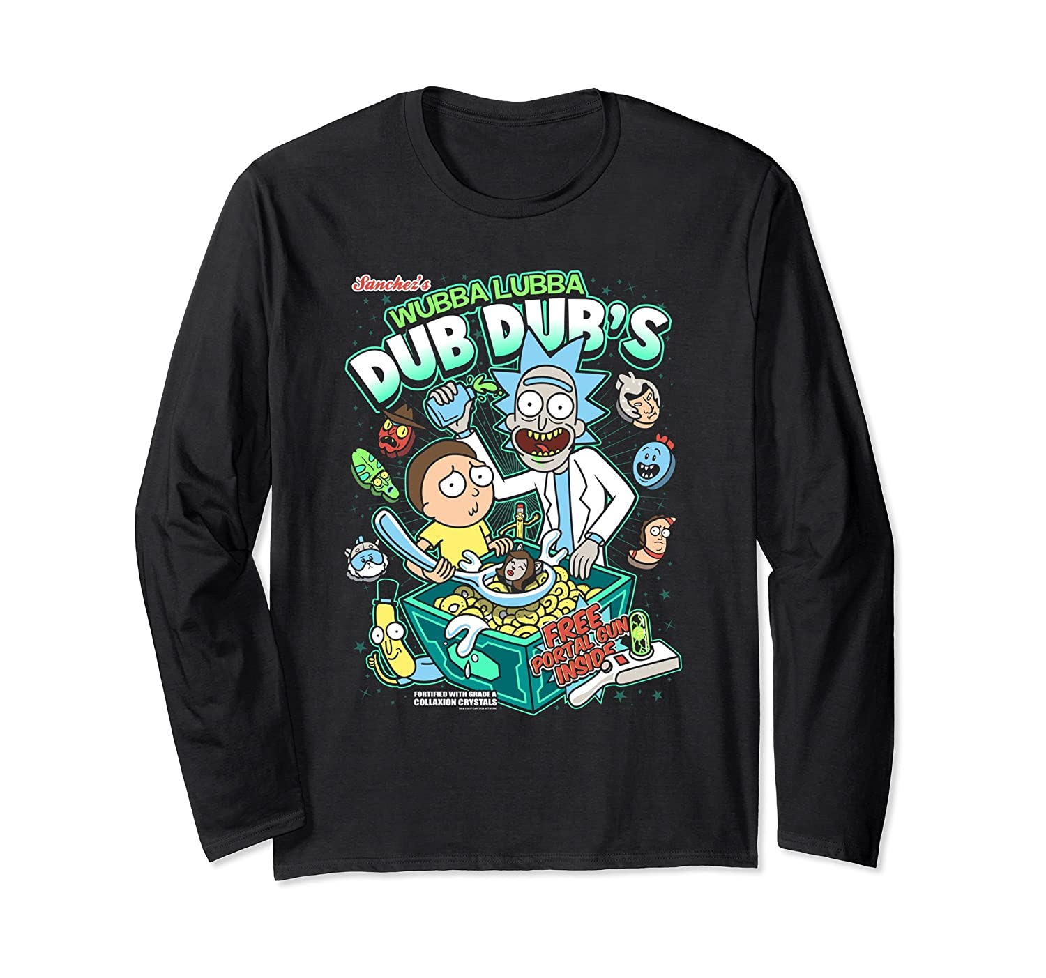 Wubba Luba Dub Dub's Cereal – Rick & Morty Long Sleeve Shirt-Awarplus