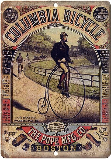 COLUMBIA BICYCLE    METAL TIN SIGN POSTER WALL PLAQUE