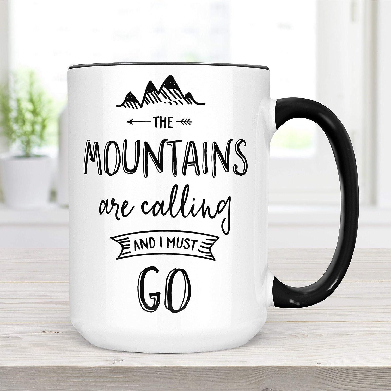 The Mountains Are Calling Coffee Mug, John Muir Quote Ceramic ...
