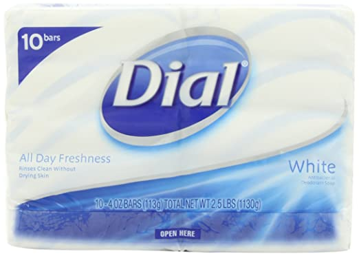 Dial White Antibacterial Soap, 10 Count