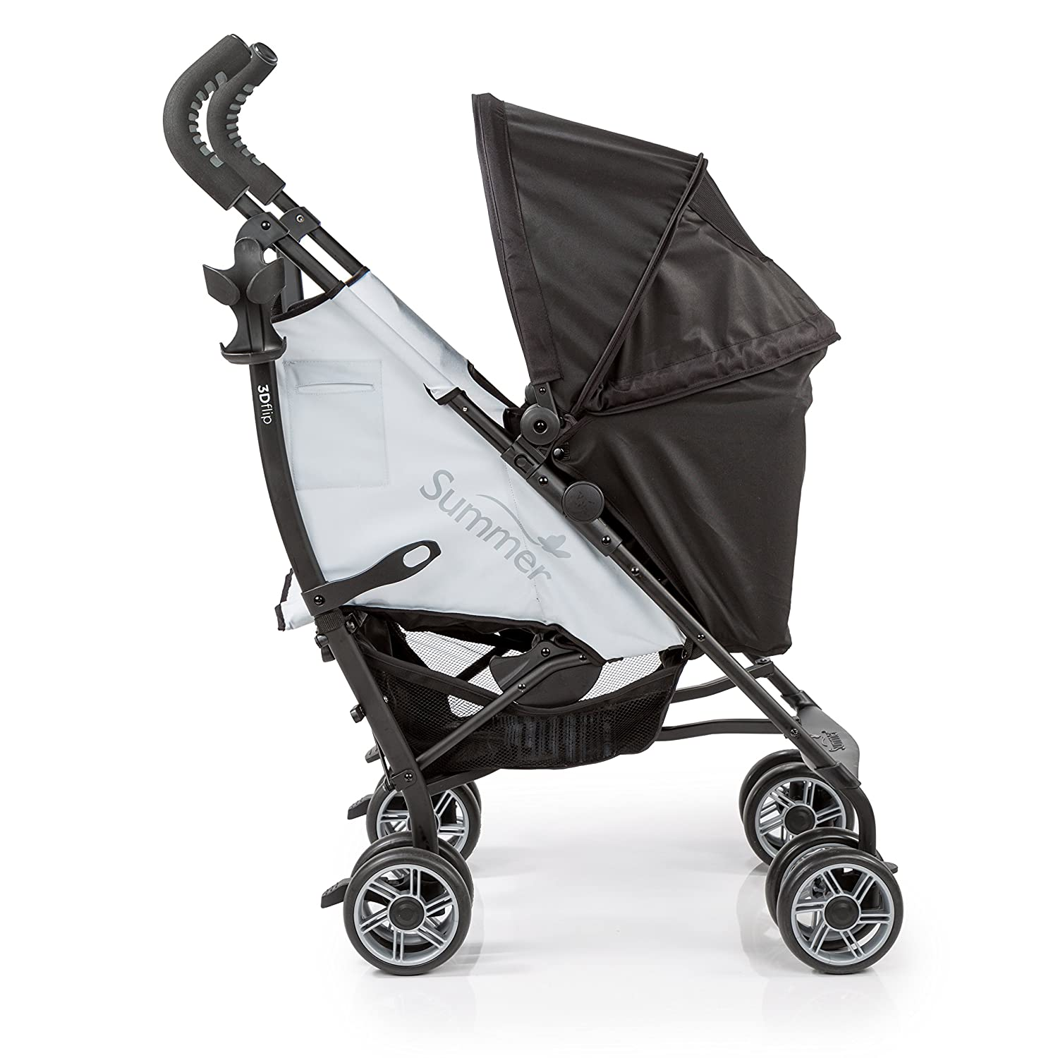 Summer Infant 3D Flip Convenience Stroller, Black/Grey 21853