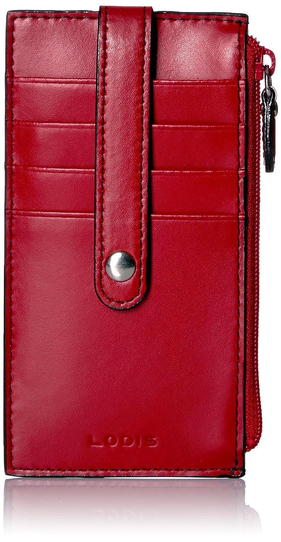 Lodis Audrey Rfid 5 Credit Card Case W/zipper Pocket Credit Card Holder Red One Size 232AULK