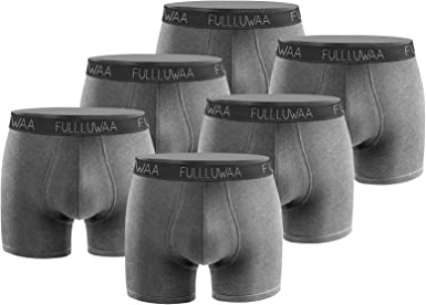 M XXL XXXL L Fullluwaa Boxers Homme Lot de 3 Coton Slip Fitted Trunk Cale/çons S XL