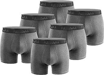 Fullluwaa Bóxer (Pack de 6) Hombre Algodón Calzoncillos