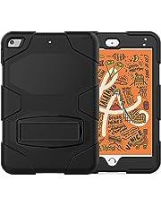 SYNTAKS iPad Mini 5 Case 2019,iPad Mini 4 Case,Slim Heavy Duty Shockproof Rugged Case Hard PC+Silicone High Impact Full Body Protective Case for iPad Mini 5th Generation 2019,Black