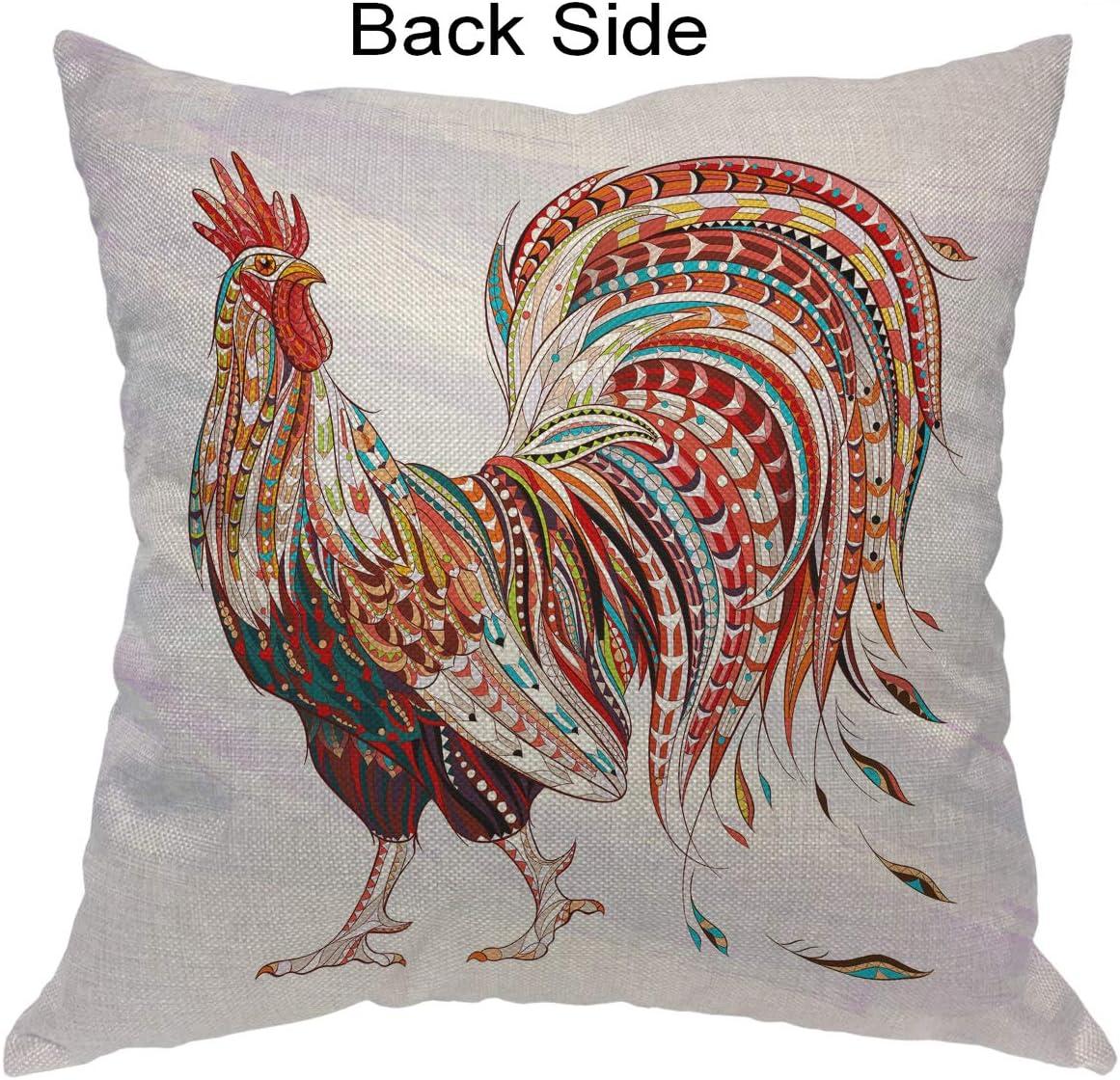 Cotton Linen Animal Throw Pillow Case