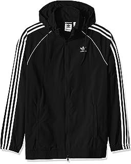 adidas Originals Mens Outline Trefoil Windbreaker Jacket at ...
