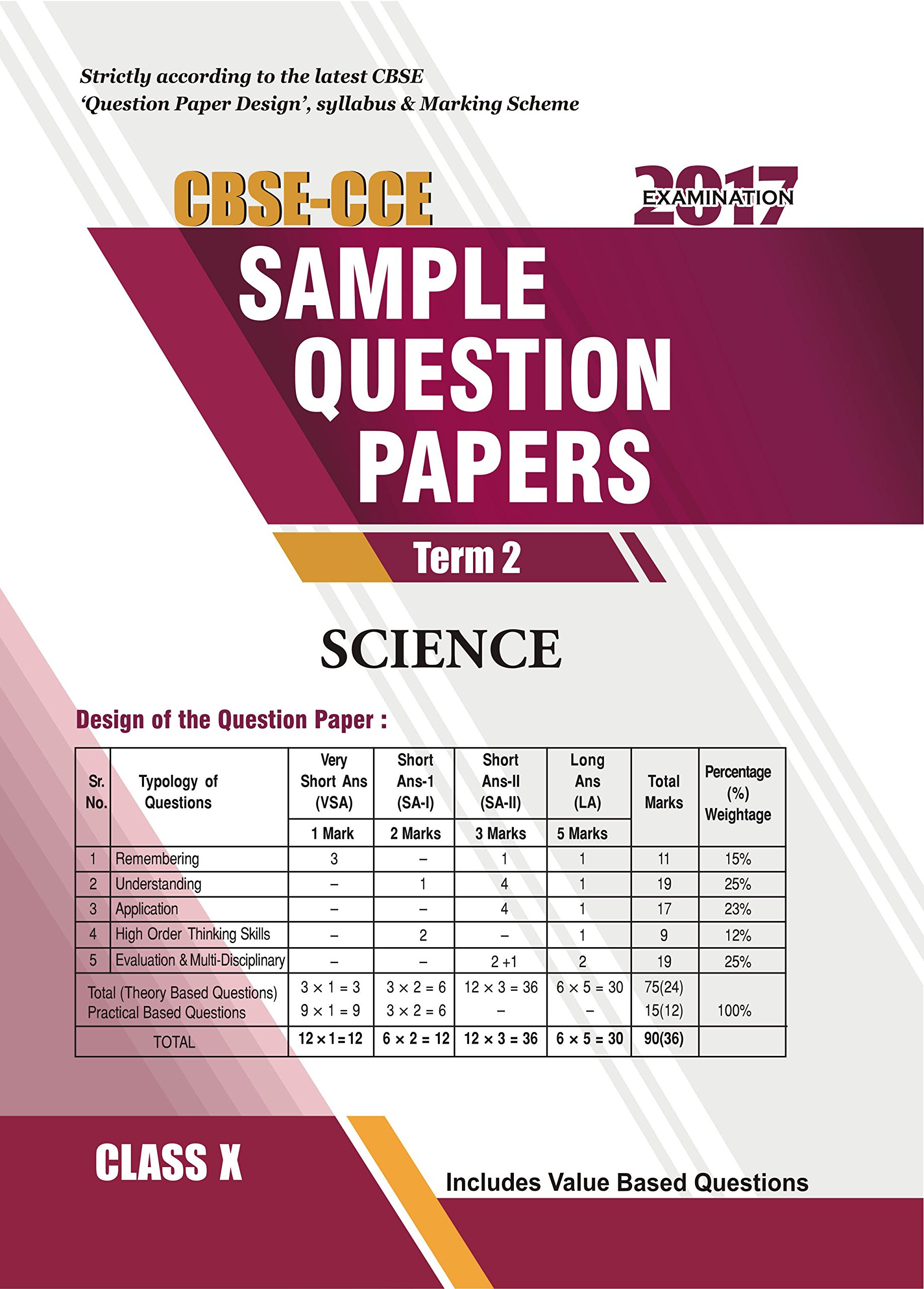Amazon buy cbse sample question paper science class 10 2017 amazon buy cbse sample question paper science class 10 2017 examination book online at low prices in india cbse sample question paper science class malvernweather Images