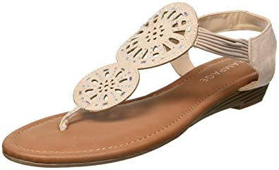 e9a1ce0de Rampage Women s Ram-Candia Flat Sandal