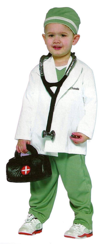 Disfraz de 4 piezas para niños - Medico, Doctor, bata de medico - Blanco, gris - L 140 (7-10 años): Amazon.es: Juguetes y juegos