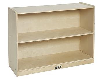 Amazon.com: ECR4Kids Birch 2 Shelf Storage Cabinet with Back ...