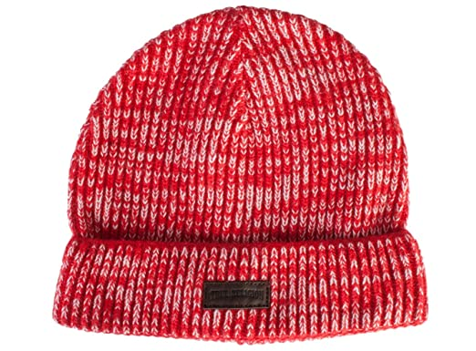 9118429475ad7 Amazon.com  True Religion Two Tone Knit Watch Cap- Beanie (True Red ...