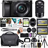 Sony Alpha a6100 APS-C Mirrorless ILC with 16-50mm and 55-210mm Lenses Bundle (8 Items)