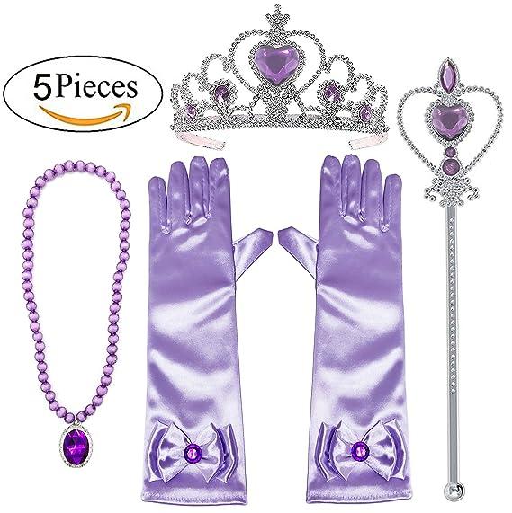 Alead princesa Sofia Viste accesorios de fiesta 4 Set Guantes e25a445524c
