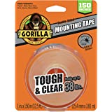 "Gorilla Tough & Clear Double Sided XL Mounting Tape, 1"" x 150"", Clear, (Pack of 1),6036002"
