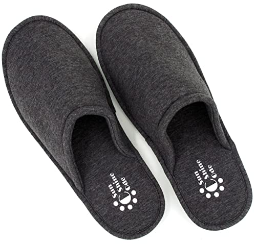 f14a47c06e2 Sunshine Code Women s Memory Foam Cotton Washable Slippers with Matching  Travel Bag for Home Hotel Spa
