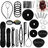 ivencase Accessori Per Capelli Pins Capelli, 28 Tipi set di acconciature Hair Styling Tool, Mix Accessori Set Gioielli per Capelli Donne Ragazze per DIY