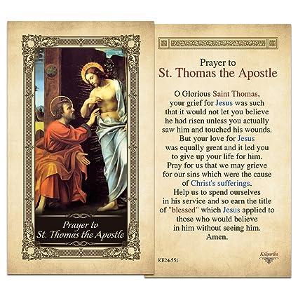 Amazon Com St Thomas The Apostle Laminated Holy Card