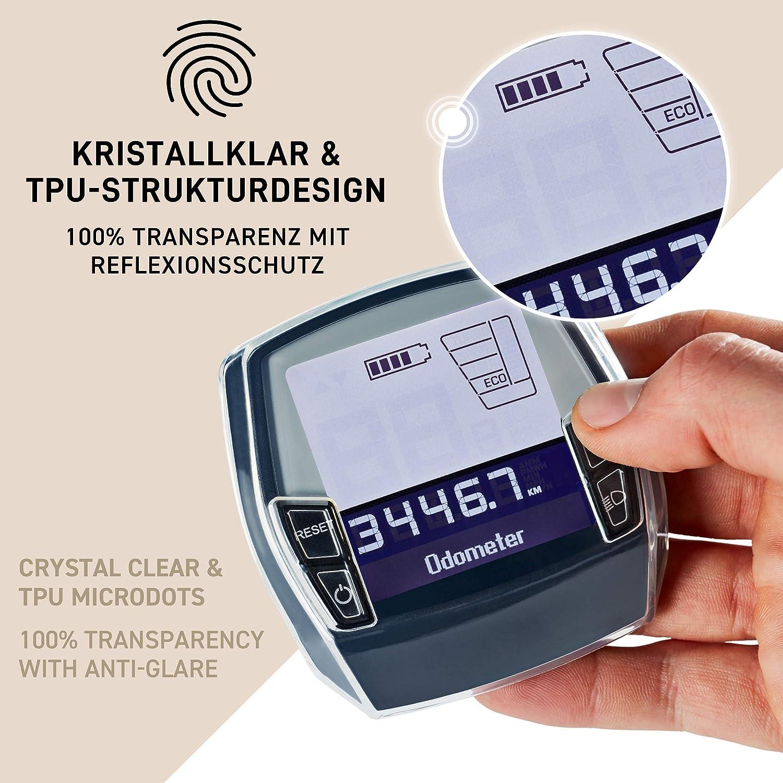 Borgen Displayschutz geeignet f/ür Bosch Intuvia Schutzh/ülle Display Tasche // H/ülle aus Neopren wasserdicht Zubeh/ör f/ür E-Bike Display TPU-H/ülle + Tasche 100/% transparent Inkl