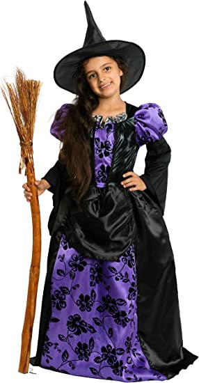 Encantador Bruja Deluxe – Disfraz de bruja infantil Halloween ...