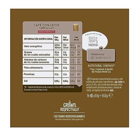 NESCAFÉ Dolce Gusto Café con leche descafeinado | Pack de 16 Cápsulas