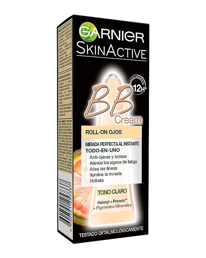 Garnier Skin Active BB Cream Roll-On Ojos Crema Correctora y Anti-Imperfecciones, Tono Claro con Vitamina C - 7 ml