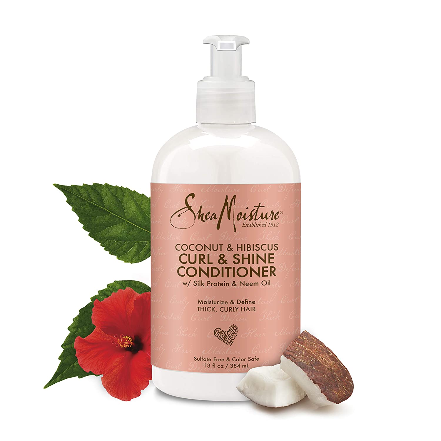 SheaMoisture 13 oz Coconut & Hibiscus Curl & Shine Conditioner