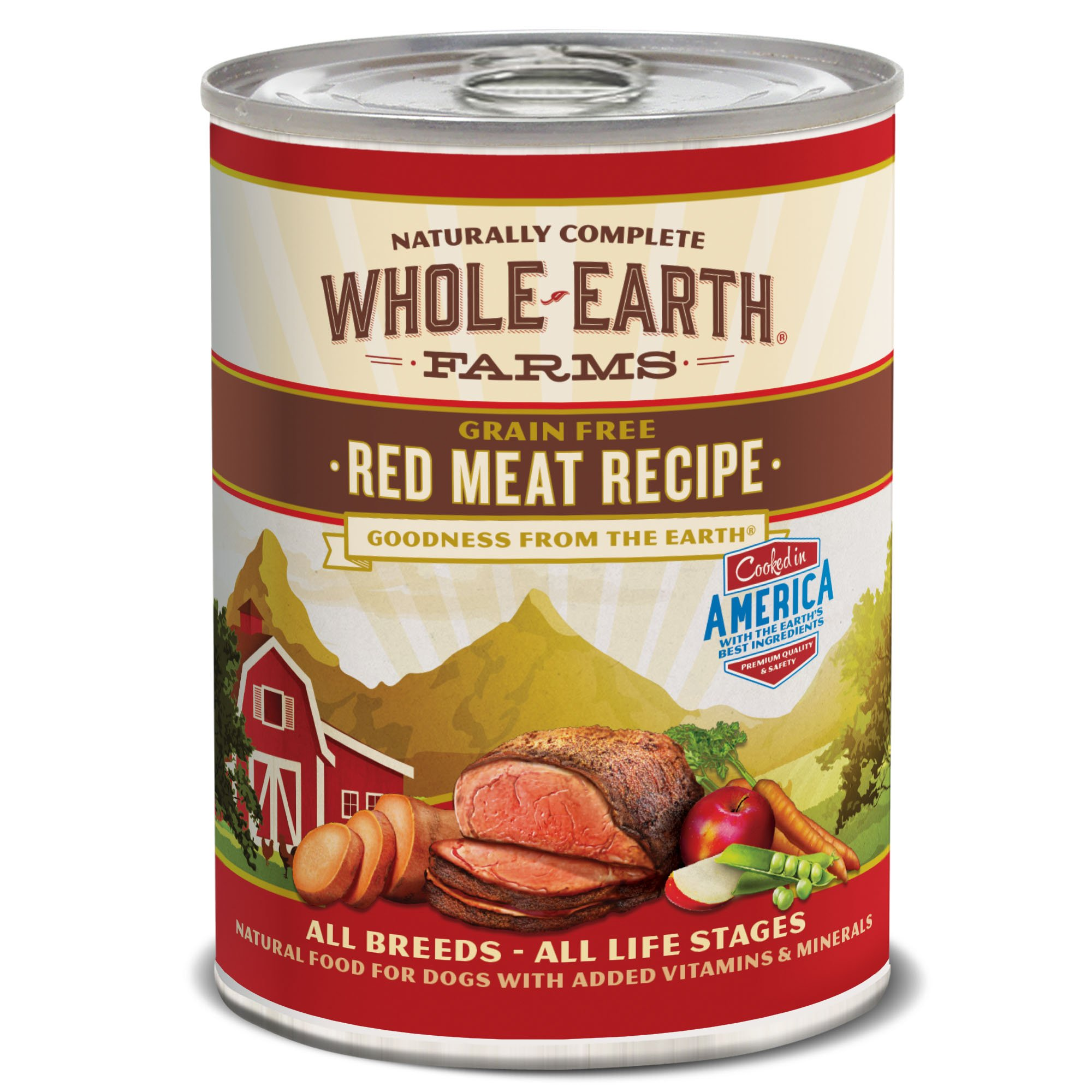 Whole Earth Farms Red Meat Recipe, 12.7-Ounce, Pack Of 12 by Whole Earth Farms