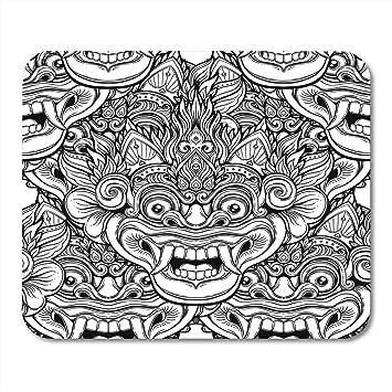 Almohadillas para mouse Barong Ritual tradicional Máscara balinesa ...
