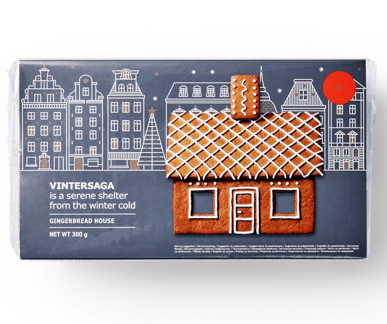 IKEA Gingerbread House Kit For Kids - Seasonal Christmas Decorating Set Accessories - House Panels