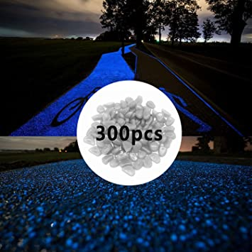 300pcs pierres de nuit brillent dans les cailloux sombres pour le ...
