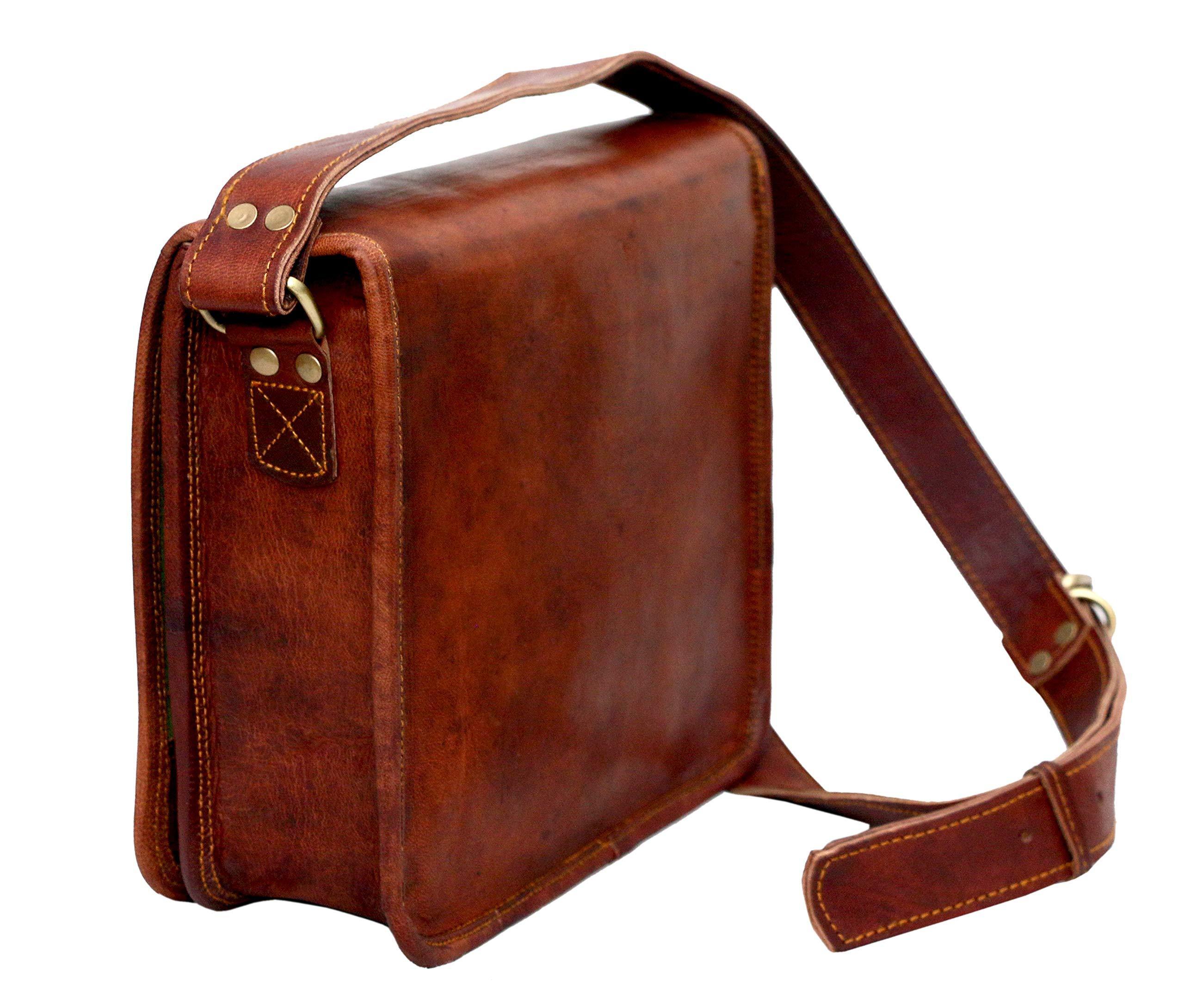 Leather bag Fair Deal / Full flap bag / laptop bag / best computer shoulder briefcase /  Handmade leather bag messenger bag for I pad / brown bag  by Fair Deal (Image #5)