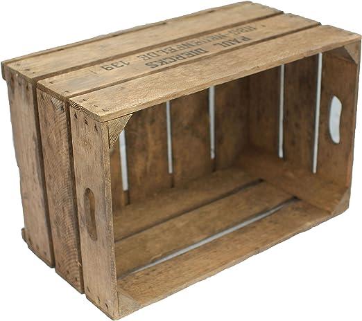 3 pcs estable cajas de fruta de madera - caja de madera: Amazon.es ...