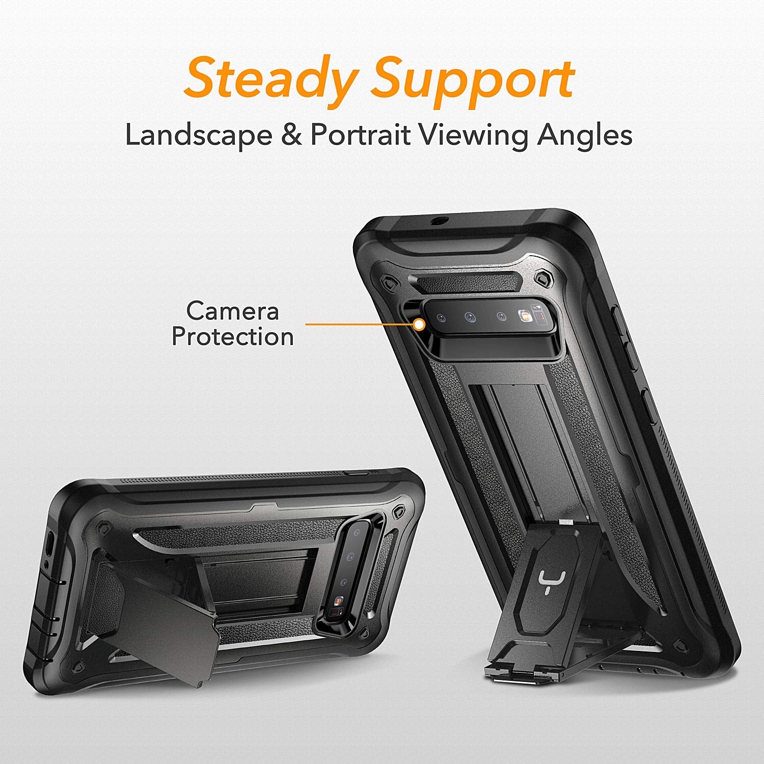 Heavy Duty Protection Case Kickstand with Built-in Screen