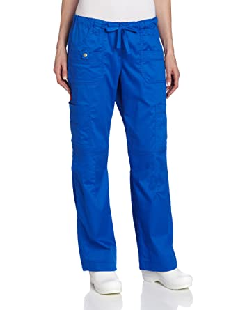 7912223d5d6 Dickies Women's Scrubs Gen Flex Fit Solid Stitch Cargo Pant, Royal, XX-Small