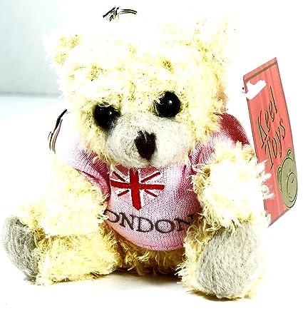 Llavero de oso de peluche, diseño de oso con camiseta de ...