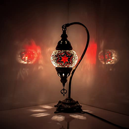 Turkish Moroccan Style Red Blown Glass