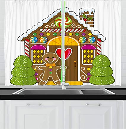 Gingerbread Kitchen Curtains Interesting Design Ideas