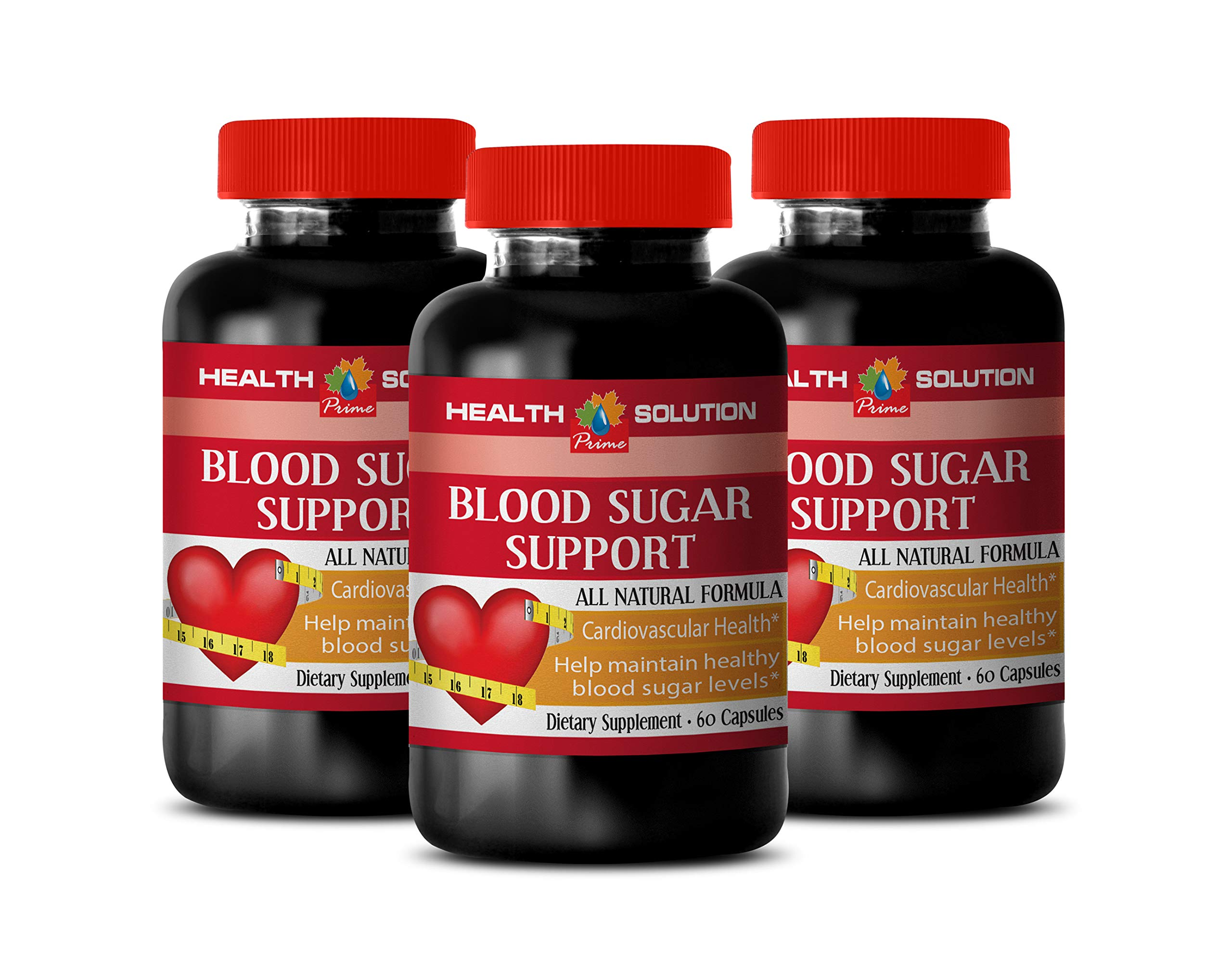 Blood Flow Increasing Supplements - Blood Sugar Support - All Natural Formula - Cardiovascular Health - Bitter Melon Extract Supplement - 3 Bottles 180 Capsules by Health Solution Prime