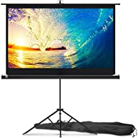 PropVue 60 inch Projector Screen with Stand for Movie or Office Presentation