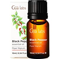 Gya Labs Black Pepper Essential Oil for Wellness, Pain Relief - Curb Smoky Habits, Boost Body Defenses and Relieve Sore…