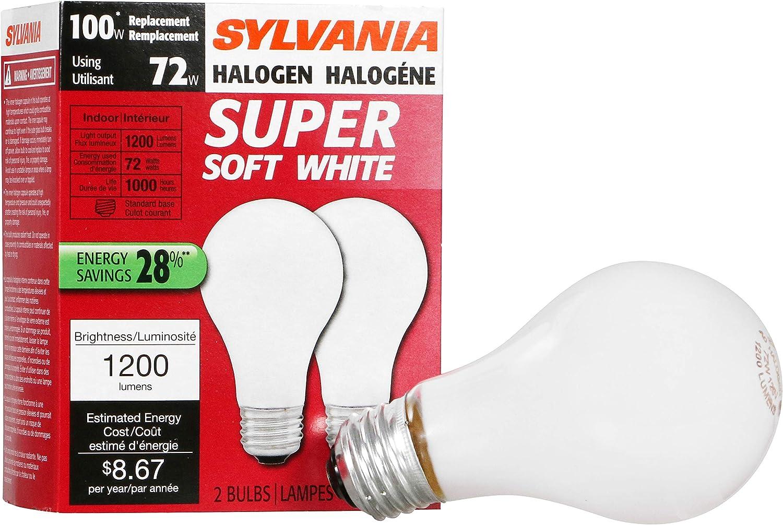24-Pack Soft White Philips 426049 72-watt A19 Dimmable Halogen Light Bulb