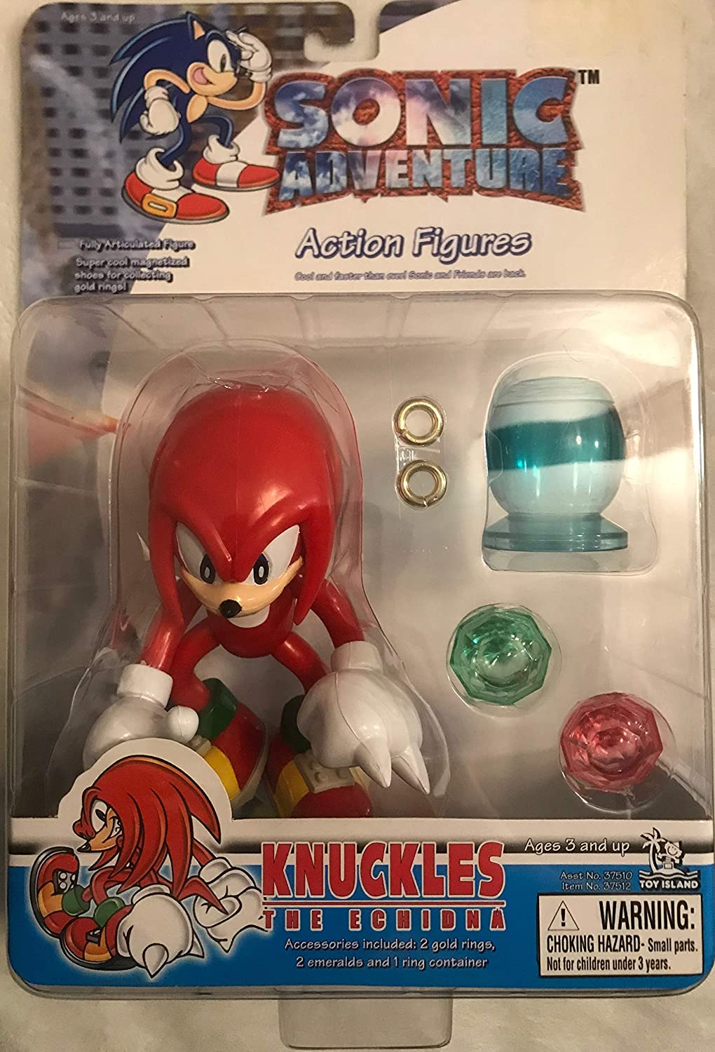 Sonic Adventure Action Figure Knuckles The Echidna Toy Island