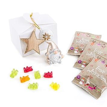 Weihnachtsgeschenke Für Geschäftspartner.10 Stück Kleine Weiße Mini Weihnachtsgeschenke Kunden Frohe