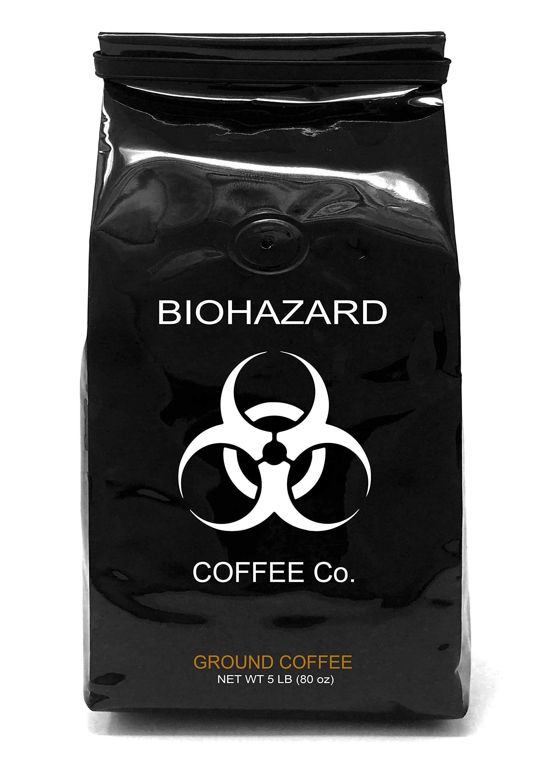Biohazard Ground Coffee, The World's Strongest Coffee 928 mg Caffeine (5 lb) by Biohazard Coffee Co.