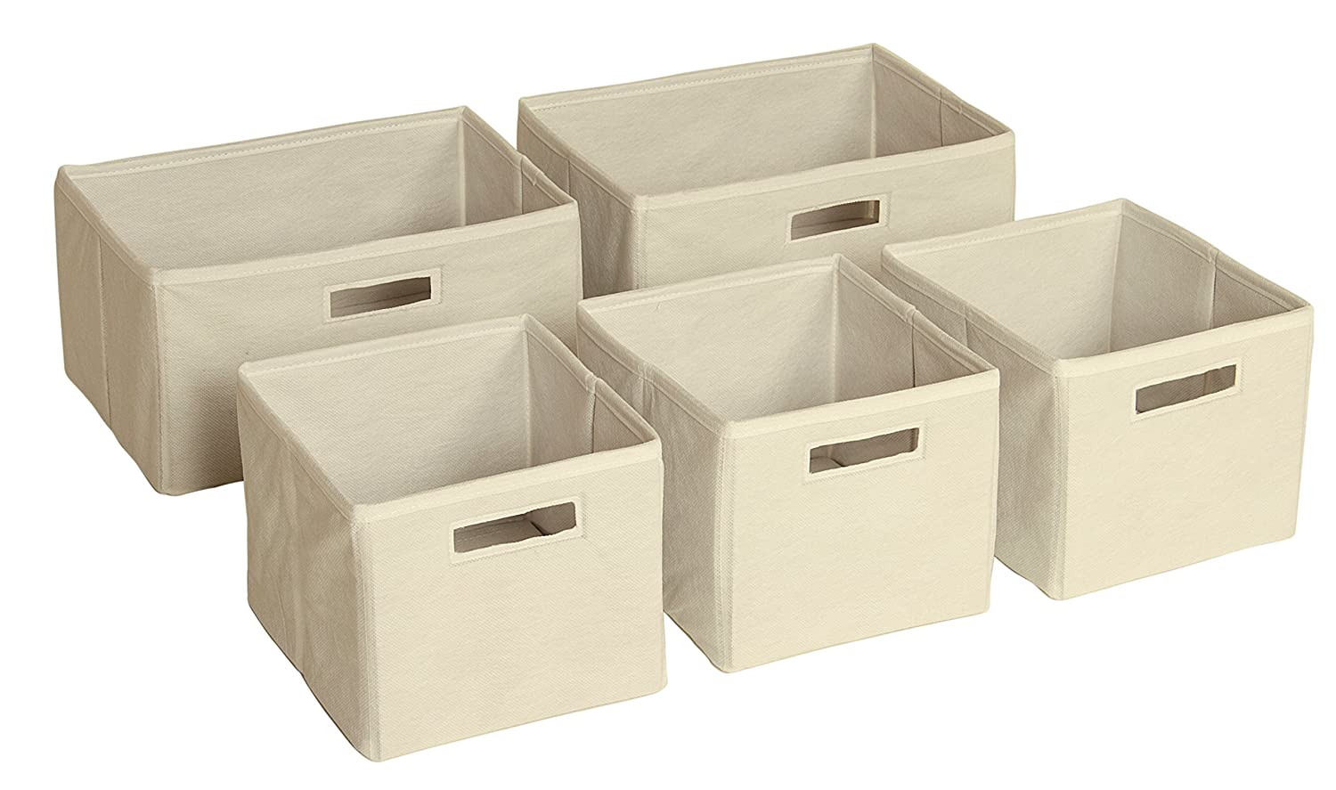 Amazon.com Guidecraft Set of 5 Storage Bin - Cubes Kidu0027s Toy Organizer Tan Baby  sc 1 st  Amazon.com & Amazon.com: Guidecraft Set of 5 Storage Bin - Cubes Kidu0027s Toy ...