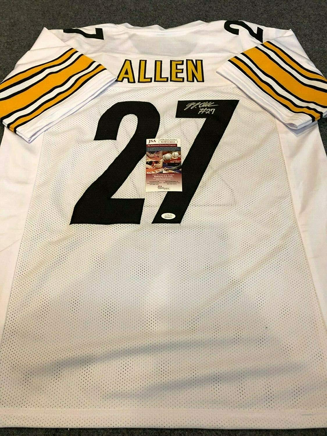 newest eee3f 3c1eb PITTSBURGH STEELERS MARCUS ALLEN AUTOGRAPHED SIGNED JERSEY ...