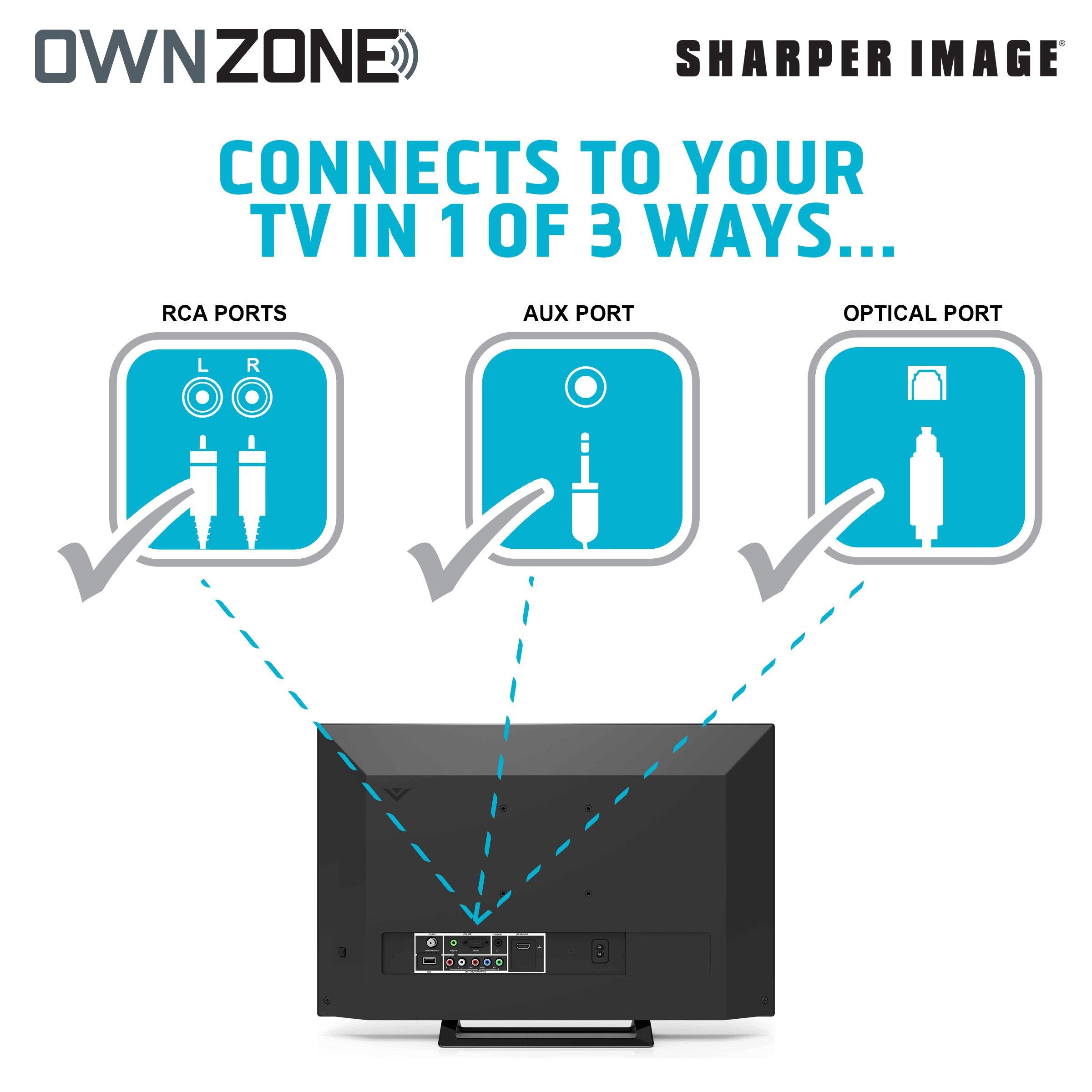 Sharper Image OWN ZONE Wireless Rechargeable TV Headphones- RF ...