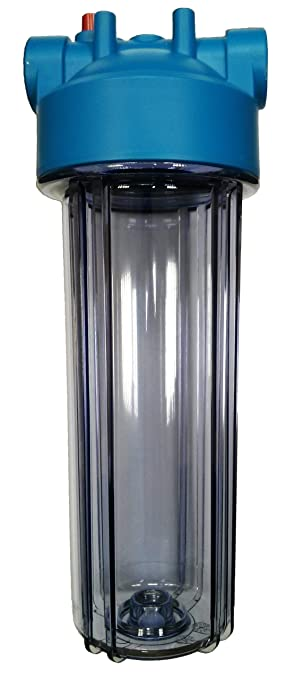 """PRV and Carbon Block Filter 10/"""" Std Blue Water Filter Housing with 3//4/"""" Ports"""