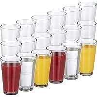 Relaxdays Set de 18 Vasos, Juego de cristalería